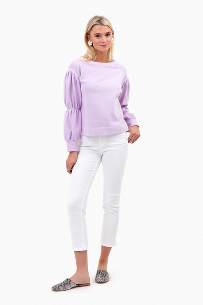 long sleeve french terry pullover