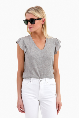 short sleeve washed textured jersey top
