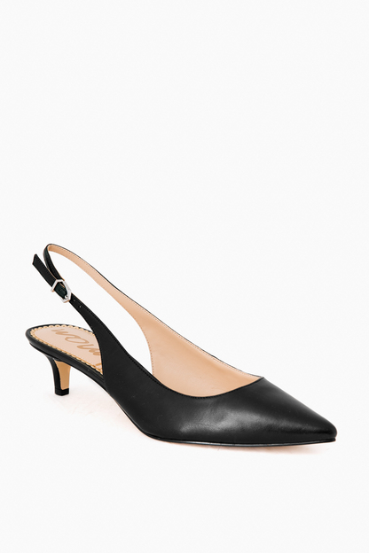 black leather ludlow slingback heels