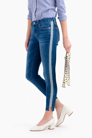 ankle skinny with side panel