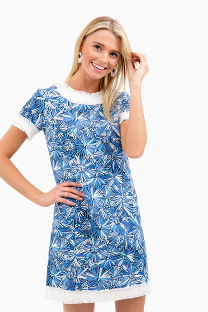 sunburst short sleeve dress