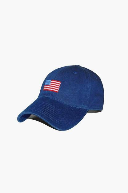American Flag Needlepoint Hat