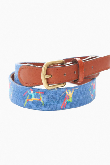 ski tricks needlepoint belt
