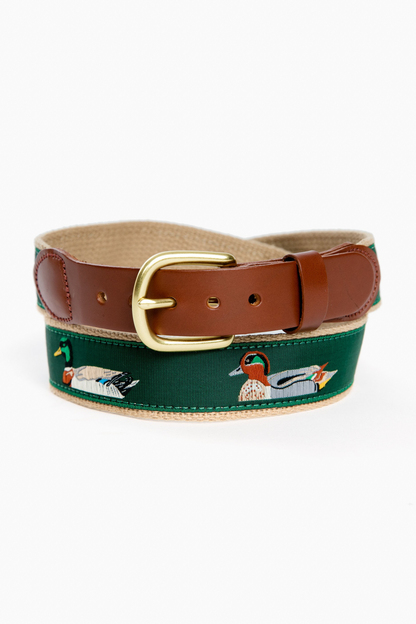 5 ducks tab & buckle motif belt