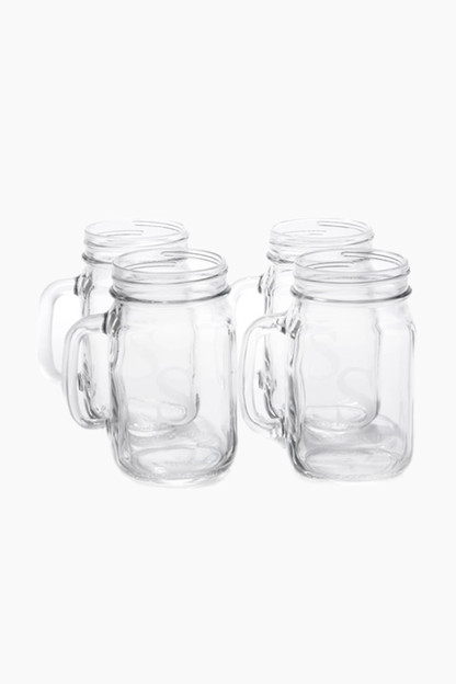 initial mason jar glasses (set of 4)