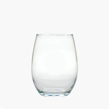 monogrammed stemless wine glass tumblers (set of 4)
