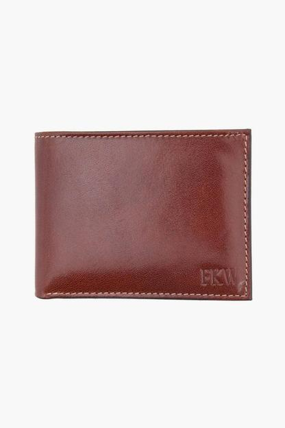 monogrammed cortina leather slimfold wallet