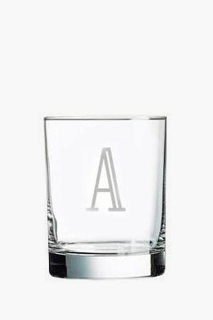 monogrammed old fashioned glasses (set of 6)