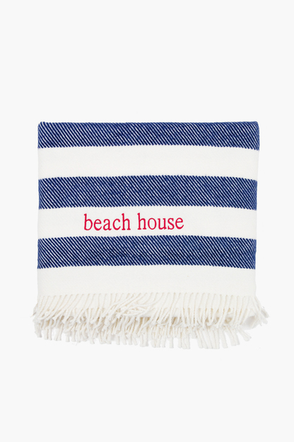 candy stripe throw blanket