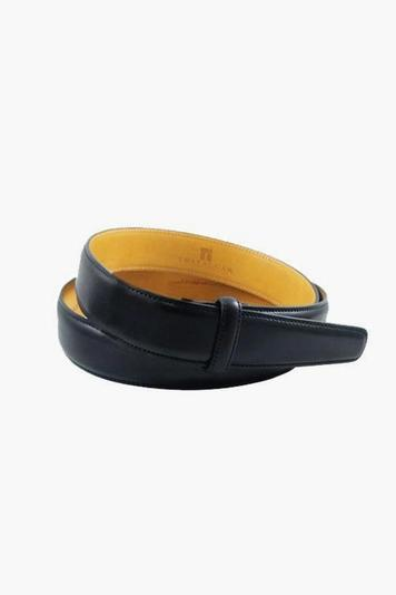 cortina leather 1 3/16 inch black belt strap