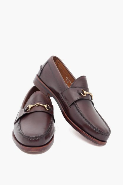 dark brown horsebit loafer